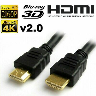 Premium Ultra HD HDMI Cable v2.0 High Speed Ethernet HDTV 2160p 4K 3D Gold 1-10M