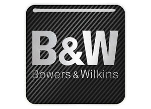 """Bowers & Wilkins 1""""x1"""" Chrome Domed Case Badge / Sticker Logo"""