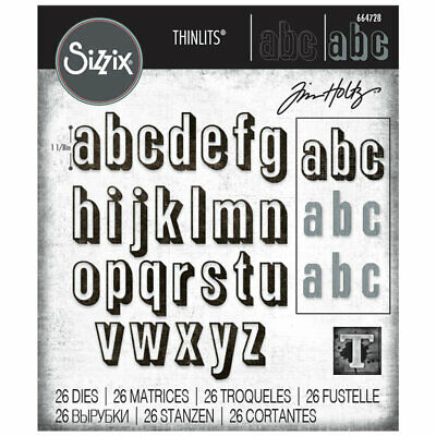 NEW Tim Holtz Alphanumeric Shadow Lower Die Set 664728    Sizzix Thinlits Dies