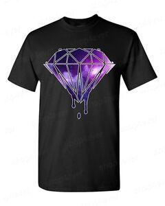 New melting bleeding dripping galaxy diamond t shirt for Galaxy white t shirts wholesale