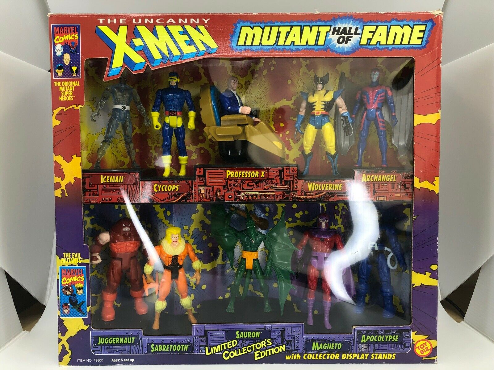 X-Men Hall of Fame Figure Set Iceman, Cyclops, Professor X, Wolverine, Archangel