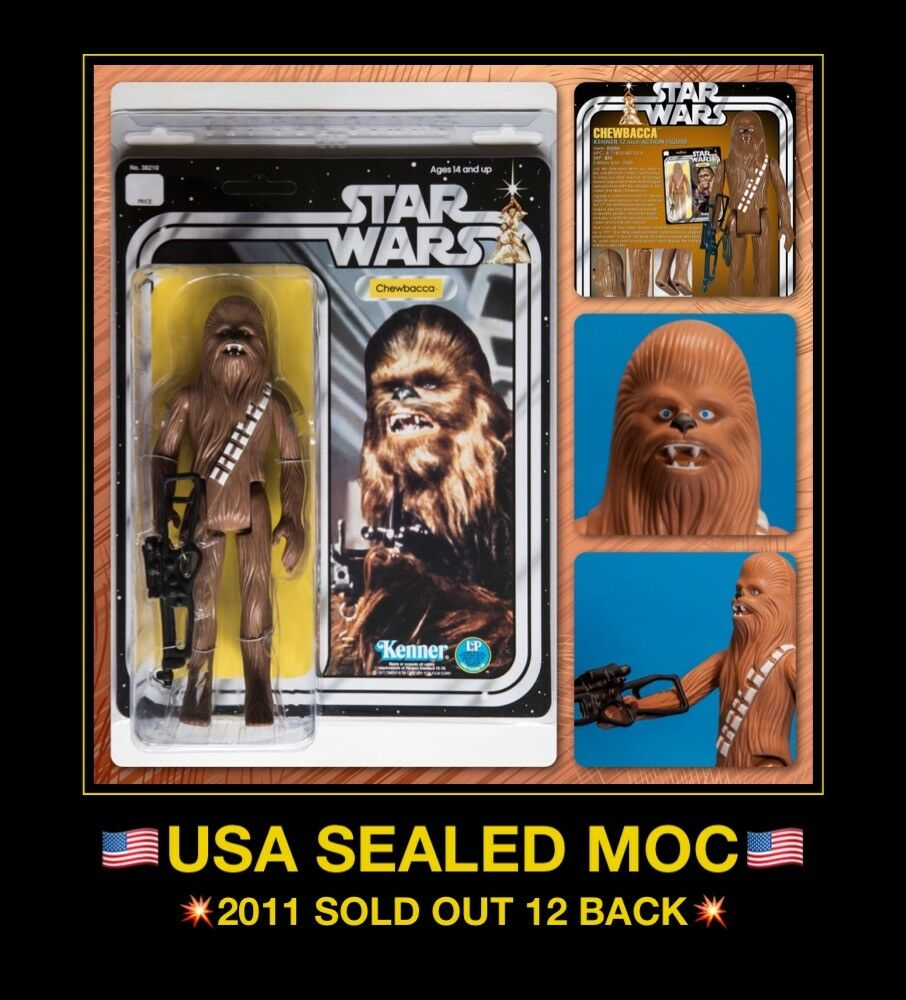 USA MISB 77 Star Wars 12  CHEWBACCA MOC Kenner JUMBO Gentle Giant Han Solo story