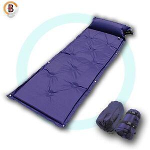 Self-Inflating-Mattress-Camping-Hiking-Airbed-Mat-Sleeping-with-Pillow-Bag-Camp