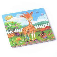 Wooden Puzzles Jigsaw Toddler Kids Early Learning Giraffe Educational Toys