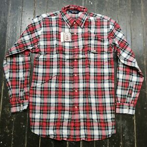 Vintage-Men-039-s-WOOLRICH-2654L-Red-amp-Green-Plaid-Shirt-Size-L-NEW-w-TAG