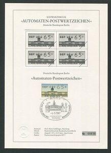 Gewissenhaft Berlin Atm Schwarzdruck 1987 65 Pfg Black Print Ltd Z1509 Limitiert !