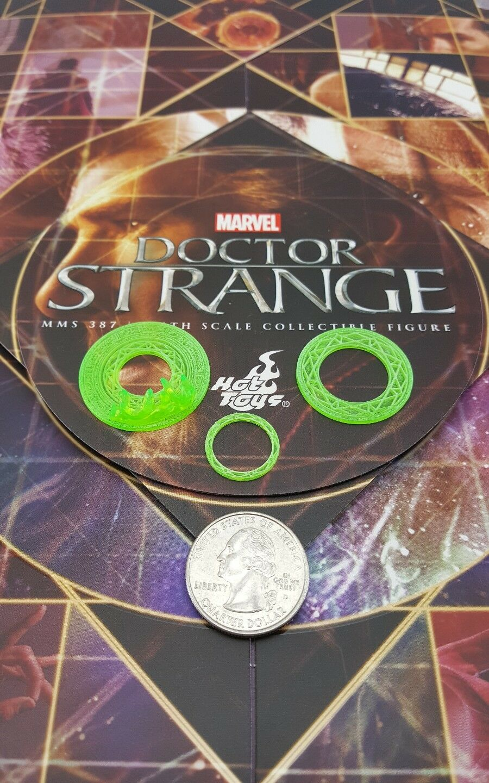 Hot Toys MMS387 Genuine Marvel 1 6 Strange action Figure's Grün 3 Mandala discs