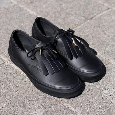 VANS Authentic FRINGE (Leather) BlackGold | eBay