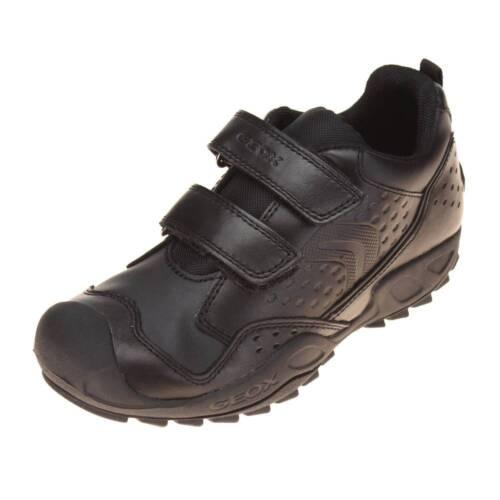 GEOX SAVAGE 2 Garçons Noir École Chaussure-Boys School Chaussures-GEOX School Shoes