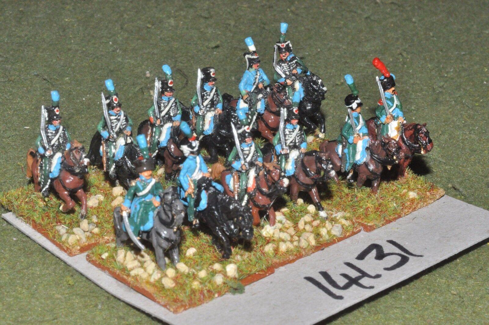 15mm napoleonic   french - hussars 12 cavalry - cav (14131)