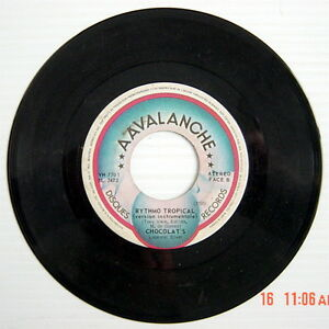 ONE-45-R-P-M-RECORD-CHOCOLAT-039-S-RYTHMO-TROPICAL-version-folklorique-inst