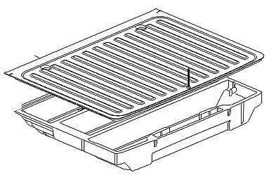 Vauxhall Astra K Hatch Boot Storage Tray /& Carpet Liner 39059254 New Original