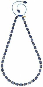Lola-Rose-ROXANE-Ladies-039-Necklace-Blue-Natural-Stones-Adjustable