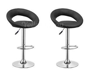 Coppia sgabelli ecopelle sgabello nero ergonomico bar cucina