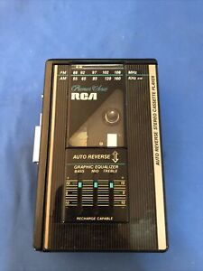 RCA Premium Series AM/FM Stereo Cassette Player RP-1850 Works Tested Vintage