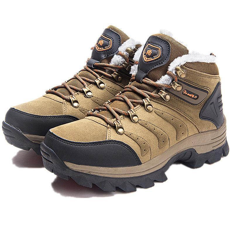 Mens Hiking High Tops Lace Up Snow Sneakers Winter Warm Ankle Boots Casual shoes