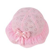 764ed5a4b76 Summer Mesh Baby Kids Girl Embroidered Hat Beach Cap Bow Flower Bucket Sun  Cap