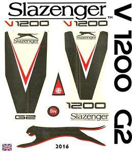 Latest Slazenger V1200 2016 World Cup Edition English Willow cricket bat sticker
