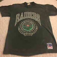 RARE OAKLAND RAIDERS BLACK T SHIRT LARGE RETRO FOOTBALL