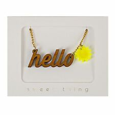 Hello Sunshine Necklace Lovely Quirky Kitsch Fun Jewellery Gift Boxed Wood Meri