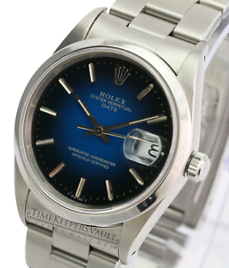 Rolex-Oyster-Perpetual-Date-Stainless-Steel-15200-Blue-Vignette-Dial-34mm-Watch