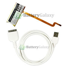BATTERY+Rapid Fast USB Data Sync Cable for Apple iPod Video 5th Gen 60GB 80GB