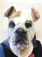 British Bulldog Mask Dog Latex Overhead Movie Quality Animal Masks Fancy Dress