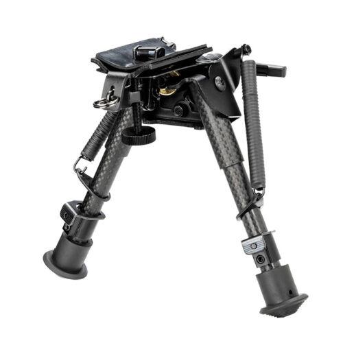 "Carbon Fiber Adjustable 6/"" to 9/"" Pivot Rotating Spring Return Legs Rifle Bipod"