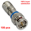 100 BNC COMPRESSION COAX CONNECTOR RG59 CABLE CCTV MALE