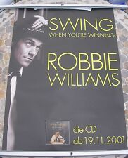 ROBBIE WILLIAMS Swing When You're Winning  promo poster 33 x 23 2001