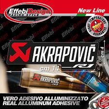 Adesivo/Sticker AKRAPOVIC YAMAHA R1 2015 YEC RACING ALTE TEMPERATURE 200°  NEW!!