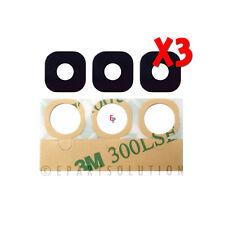Lot of 3 Samsung Galaxy S7 G930 / S7 Edge G935 Camera Glass Lens Repair Part USA