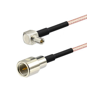 2-Pack-FME-Male-to-TS9-Male-Right-Angle-RG316-Coaxial-Pigtail-Cable-15cm