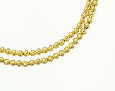 925 Sterling Silver 24k Gold Vermeil Style 50 Round  Beads 2 mm.