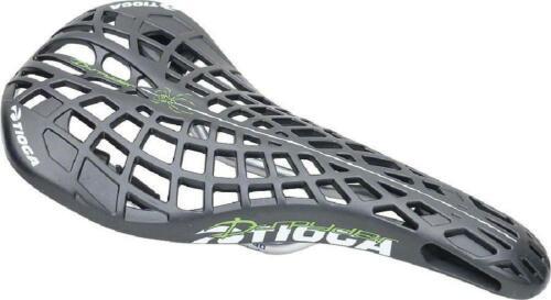 Tioga D-Spyder BMX Saddle Hollow Chromoly Rails Black