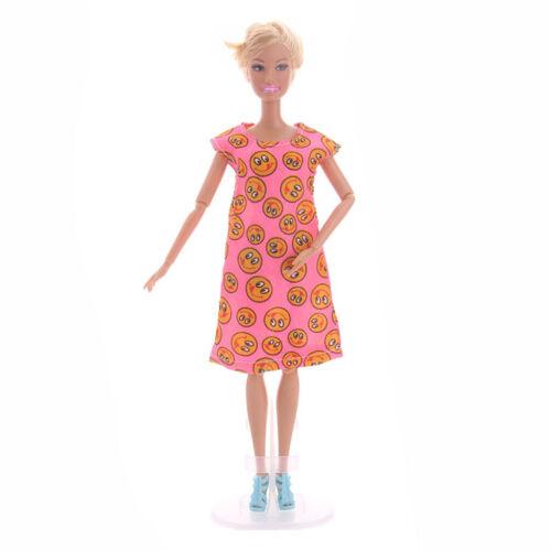 MagiDeal 1//6 Puppe ärmellose bedruckte Kleiderkleidung für Puppen