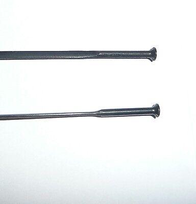 6pcs x SAPIM CX 14G AERO STRAIGHT PULL Flat Bladed Spokes 285mm Black
