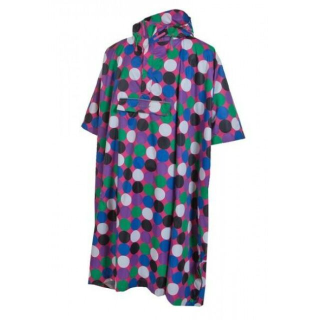 MAC IN A SAC TARGET DRY WATERPROOF PONCHO RETRO DOT FESTIVAL WALKING CAMPING