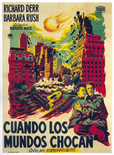 When Worlds collide vintage sci-fi movie poster print