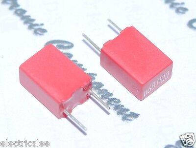 0.68µF 0,68uF 680nF WIMA MKS2 0.68uF 100V 5/% pich:5mm Capacitor 10pcs