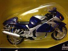 Suzuki GSX-R 1300 HAYABUSA BLUE motorcycle 1/18 GSXR 1300R GSX1300R GSXR1300