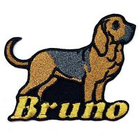 Iron-on Bloodhound Dog Patch With Name Personalized Free