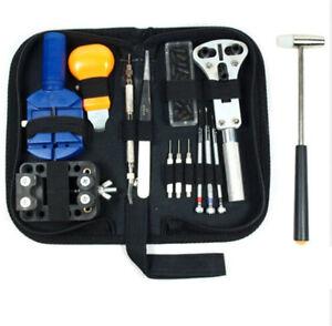 14-16pc-Uhrmacher-Uhr-Reparatur-Werkzeug-Kit-Set-Back-Case-Opener-Remover-Spring-Pin