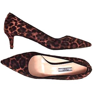 PRADA-Leopard-Calf-Hair-Pointed-Toe-Pump-Kitten-Heel-Pump-Shoe-sz-40