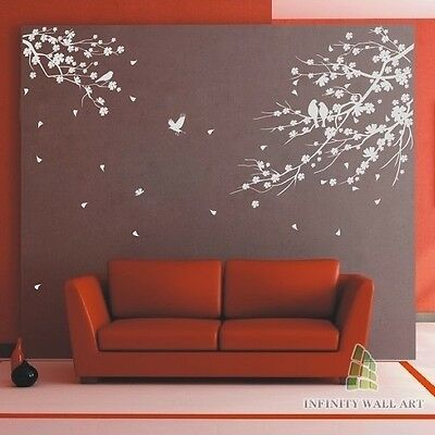 Stylish Birds &Tree Wall Art Stickers, Wall Decor, Wall Decal Stickers --- PD502