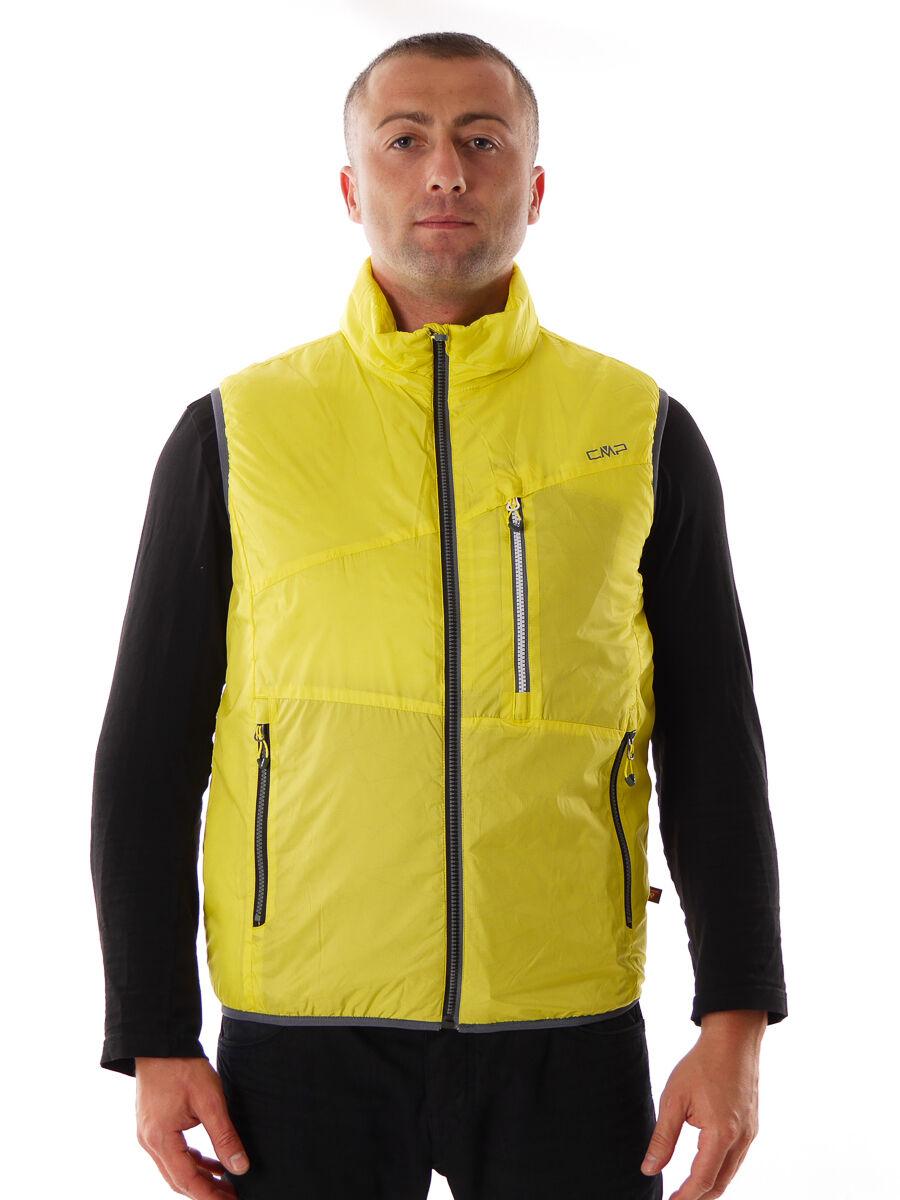 CMP Bodywarmer Weste Funktionsweste gelb Kragen Taschen Primaloft®