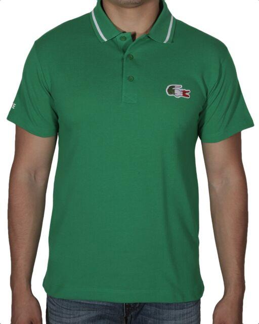 631e98aa Lacoste Men's Olympic Supporter Pique Polo Shirt Italy PH6560-51 2SS Green
