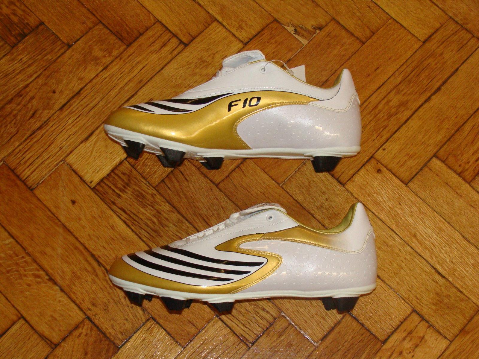 botas De Fútbol Adidas F10.8 F 10 Fútbol Zapatos terreno blando oro Nuevo