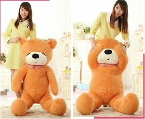 "GIANT BIG PLUSH SLEEPY ""light brown"" TEDDY BEAR plush soft toys gift 47in. 120cm"