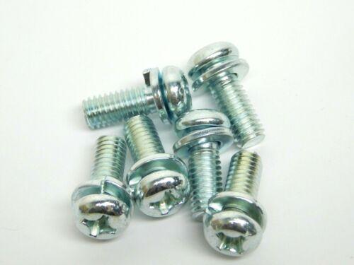 M6 x 16mm Metric Phillips Pan Head Machine Screws SEMS Lock Washer Zinc Steel NH